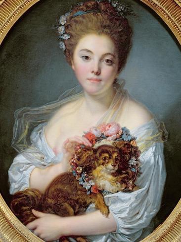 Madame De Porcin, 1774 Lámina giclée