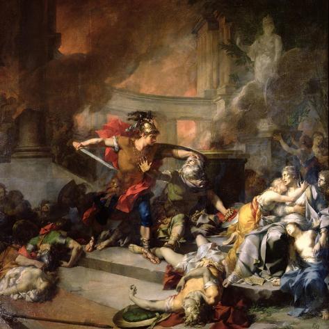 The Death of Priam, 1785 Lámina giclée