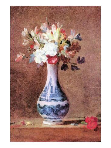 Still Life Of Flowers In A Vase Posters By Jean Baptiste Simeon