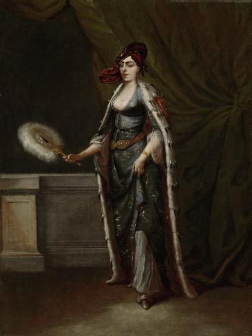 A Turkish Woman, Jean Baptiste Vanmour Art Print