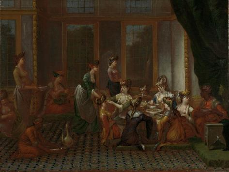 Banquet of Distinguished Turkish Women Art Print