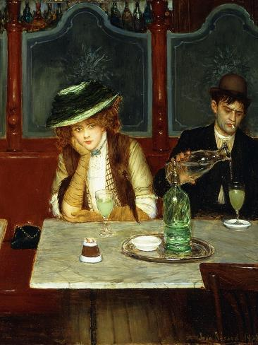 The Absinthe Drinkers, 1908 Giclée-vedos