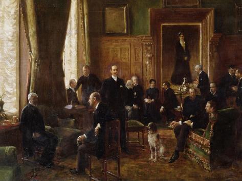 The Salon of the Countess Potocka, 1887 Lámina giclée