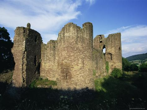 Grosmont, Ruined 13th Century Castle, Grosmont, Monmouthshire, Wales, United Kingdom Photographic Print