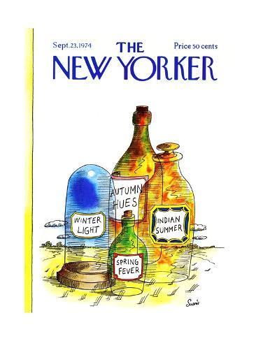 The New Yorker Cover - September 23, 1974 Premium Giclee Print