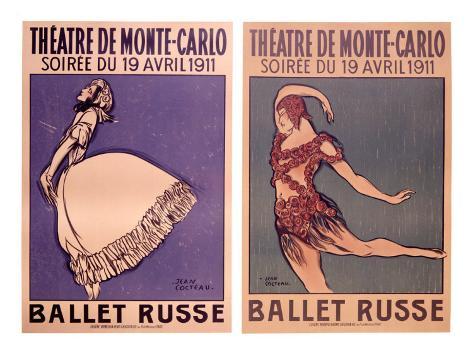 Theatre de Monte Carlo, Ballet Russe Giclee Print
