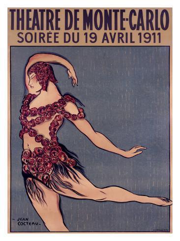 Theatre de Monte-Carlo Giclee Print