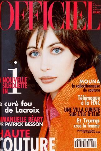 L'Officiel, April 1996 - Karen Mulder Habillée Par Céline Art Print