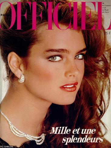 L'Officiel, December 1981 - Brooke Shields Art Print