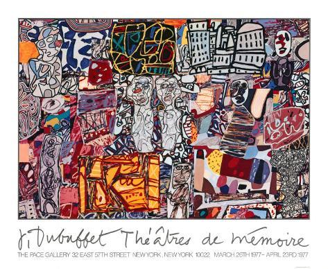 Theatre de Memoire, 1977 Serigraph