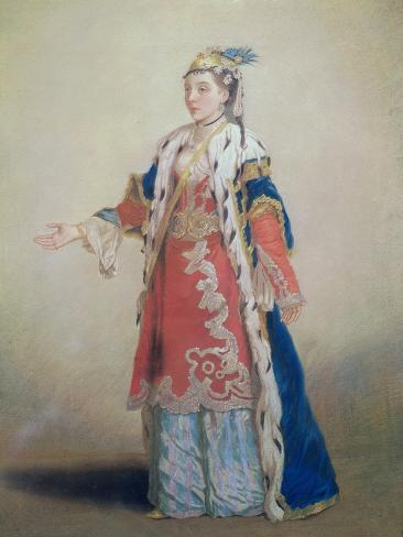 Frankish Woman from Pera, Constantinople, 1738-43 Lámina giclée