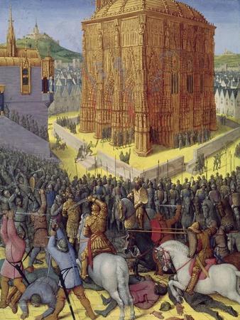 Siege Of Jerusalem By Nebuchadnezzar Illustration From