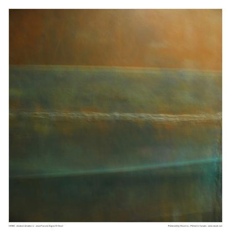 Abstract Vibration V Art Print