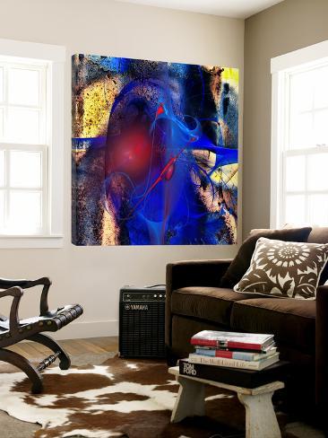 Blue Flames Loft Art
