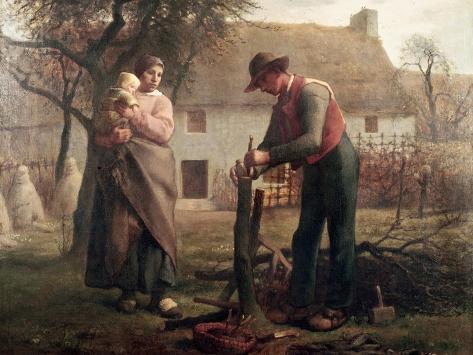 Peasant Grafting a Tree Lámina giclée