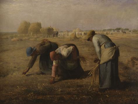The Gleaners, c.1857 Giclee Print