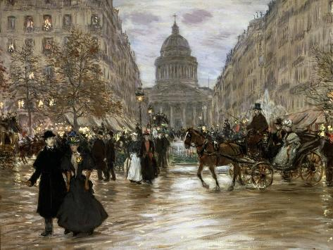 Boulevard Saint-Michel, Late 19th or Early 20th Century Giclee Print