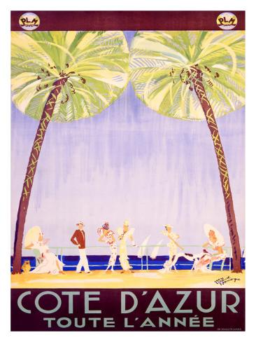 Cote d'Azur Giclee Print