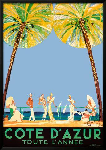 Cote d'Azur Lamina Framed Art Print