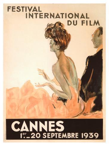 Festival Internacional de Cinema, Cannes, 1939 Impressão giclée emoldurada