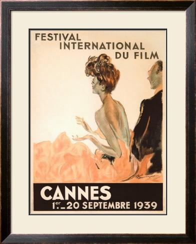 Festival International du Film, Cannes, 1939 Framed Giclee Print