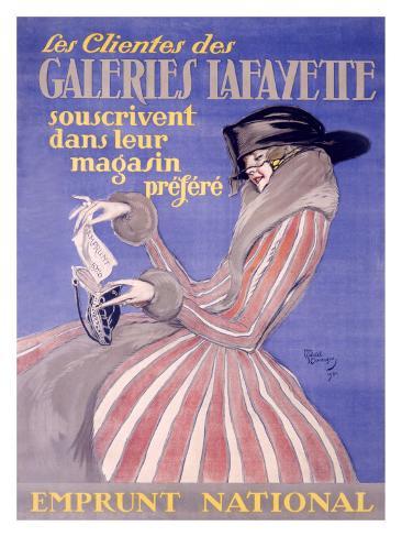 Galeries Lafayette Giclee Print