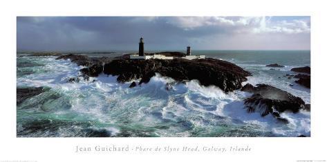 Phare de Slyne Head, Galway, Irlande Art Print