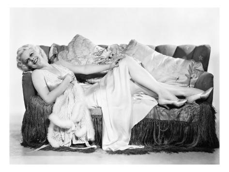 Jean Harlow (1911-1937) Stretched Canvas Print
