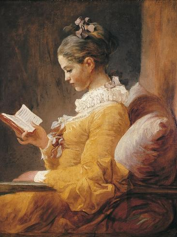 A Young Girl Reading Art Print