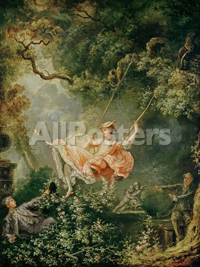 El columpio, Fragonard Lámina giclée por Jean-Honoré Fragonard en ...