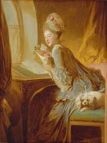 The Love Letter, c.1770 Lámina giclée