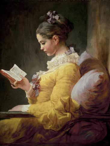 Young Girl Reading Lámina giclée