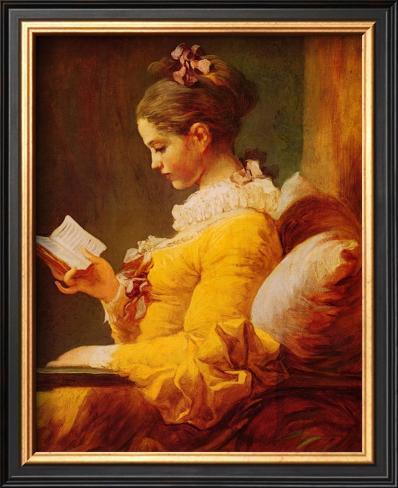Young Girl Reading Framed Art Print