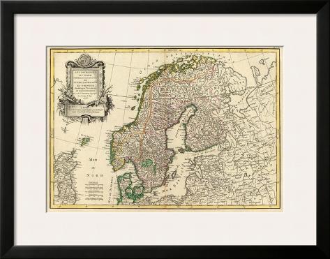 Suede, Danemarck et Norwege, c.1762 Framed Art Print