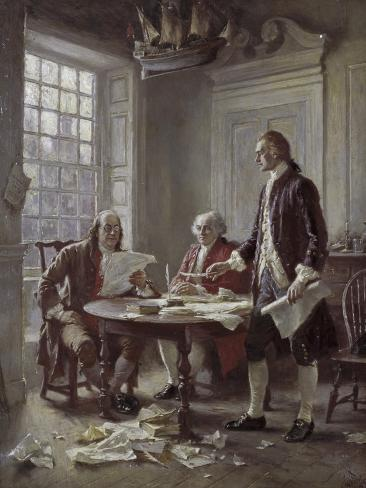 Drafting the Declaration of Independence Giclee Print