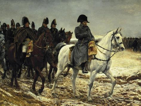 Napoleon on Campaign in France,1814 Art Print