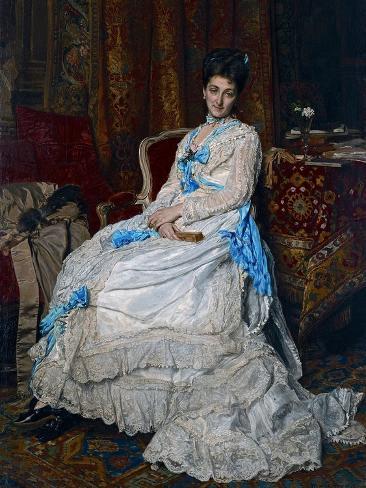 Portrait of Marquesa De Manzanedo, 1872 Giclee Print
