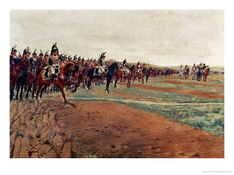 The Cuirassiers Before Their Charge at the Battle of Austerlitz in 1805, Detail, 1878 Giclee Print