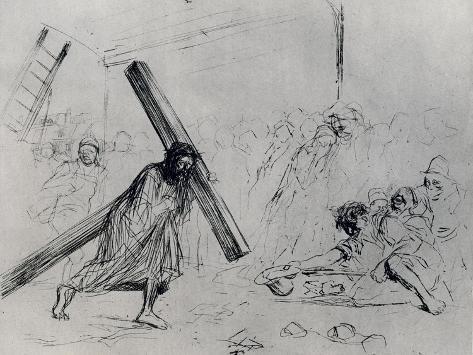 Christ Carrying the Cross, 1925 Lámina giclée