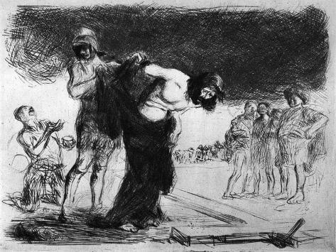 Christ Stripped of His Clothing, 1925 Lámina giclée