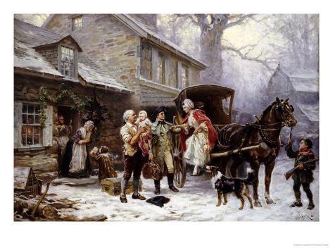Home for Christmas, 1784 Giclee Print