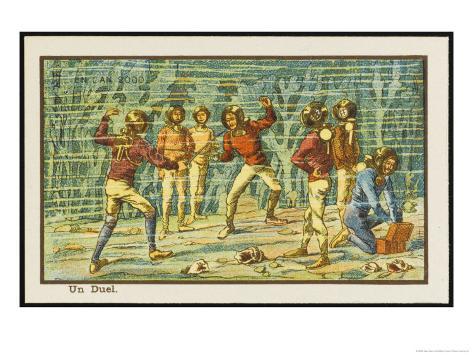 An Underwater Duel Giclee Print