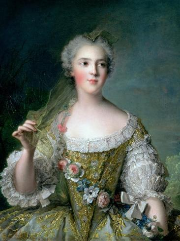 Portrait of Madame Sophie (1734-82), Daughter of Louis XV, at Fontevrault, 1748 Giclee Print