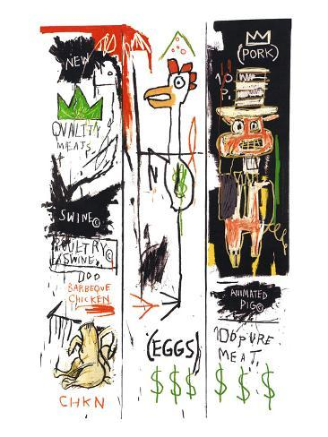 Quality Meats For The Public 1982 Giclee Print By Jean Michel Basquiat At AllPosters