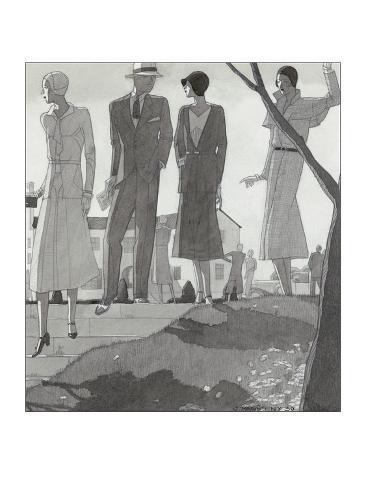 Vogue - April 1930 Stampa giclée premium