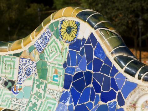 Parc Guell by Antoni Gaudi Photographic Print