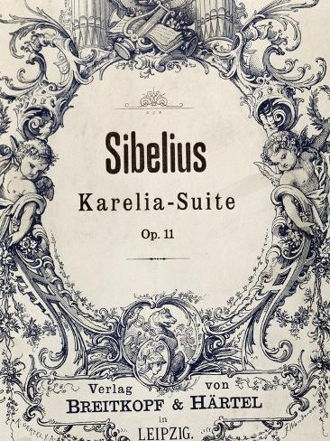 Title Page of Karelia Suite Giclée-vedos