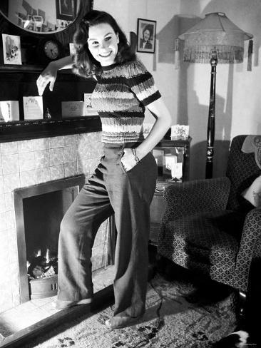 Jean Simmons Young Film Actress. January 1946 Valokuvavedos