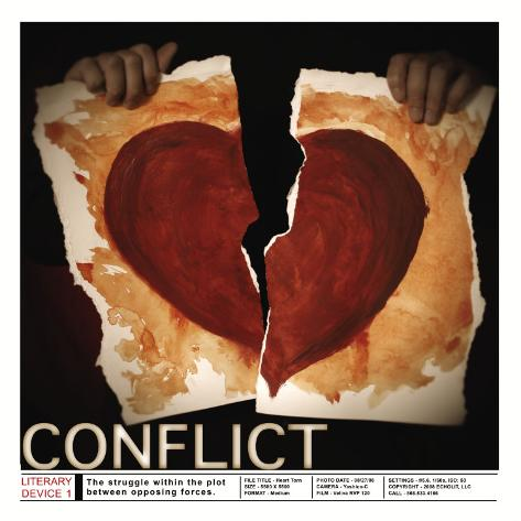 Literary Devices: Conflict Art Print