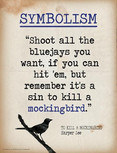 the literary metaphor in to kill a mockingbird by harper lee A symbol in literature is an object that stands for a word, cause, belief, or another   in to kill a mockingbird by harper lee, the title of the novel is very significant.